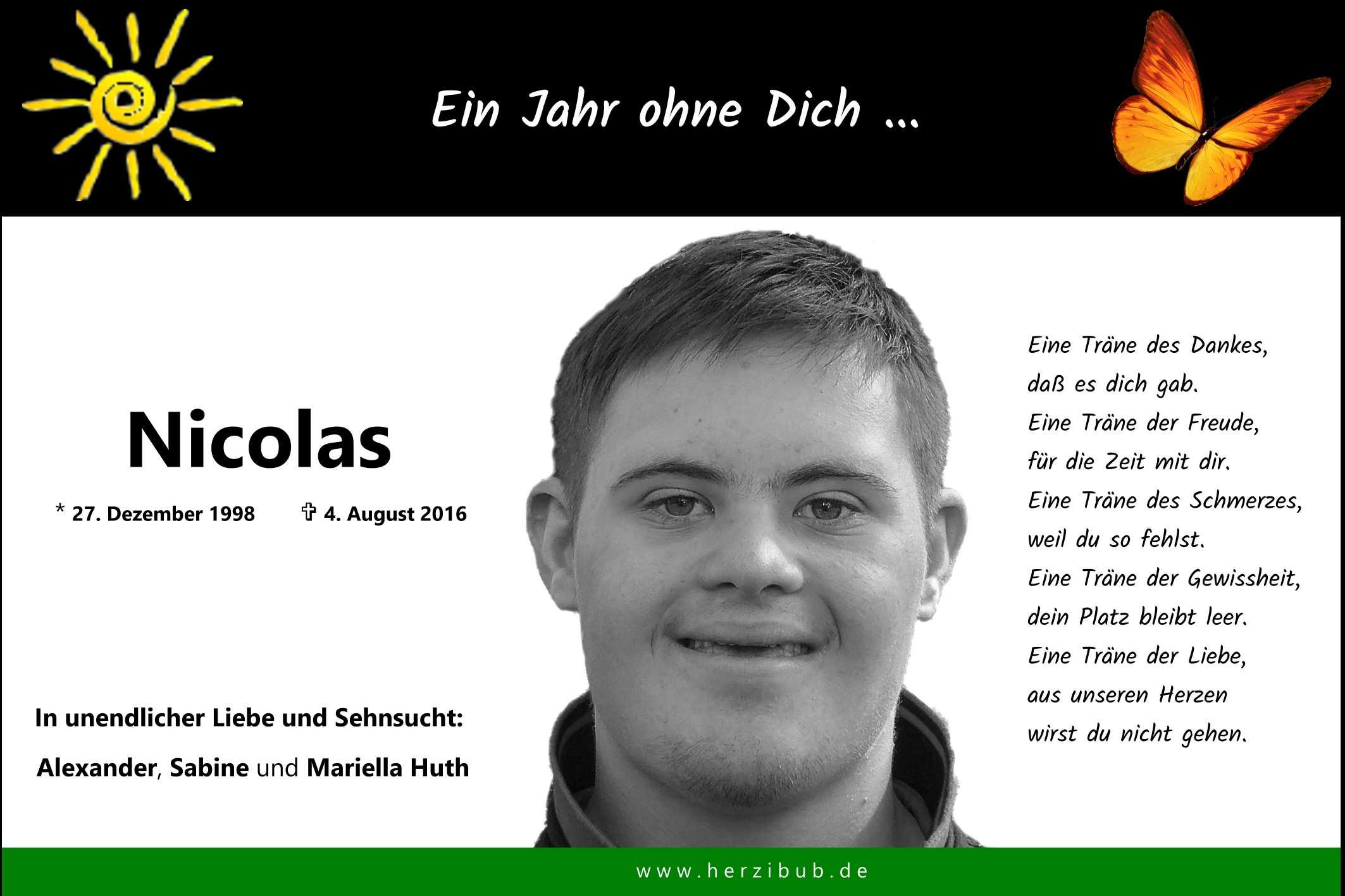 Jahre ohne Dich   Nicolas Huth